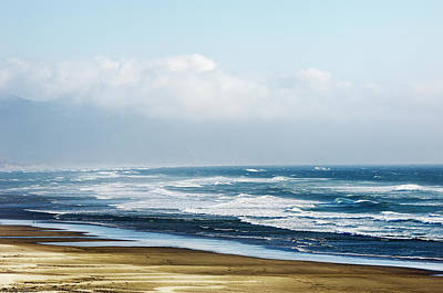 Photograph - Summer Waves Rolling Onto Shore In Netarts Oceanside Oregon by Amyn Nasser