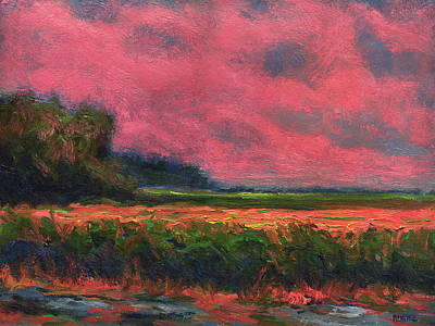 Summer Wetlands - Distant Haze  Art Print by Vernon Reinike