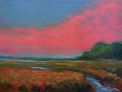 Summer Wetlands - To The Gulf Art Print by Vernon Reinike