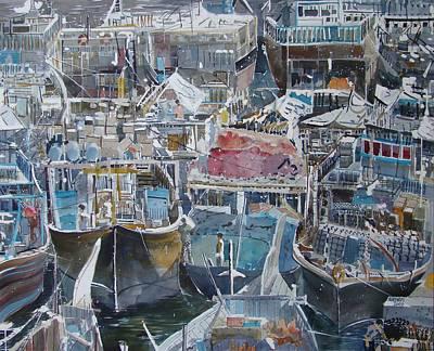 Summer Wharf Dubai Art Print by Martin Giesen