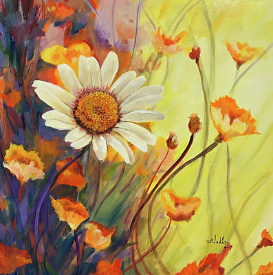 Painting - Summer Wild Flowers by Alan Lakin