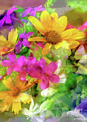 Photograph - Summer Wildflower Boquet 2 by Debbie Portwood