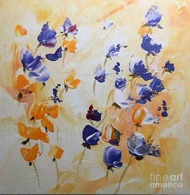 Painting - Summer Wildflowers #2 by Barbara Tibbets