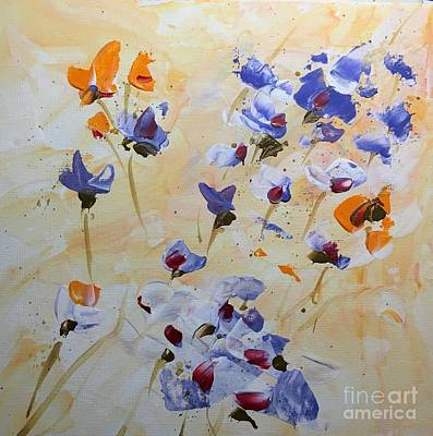 Painting - Summer Wildflowers  by Barbara Tibbets