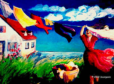 Painting - Summer Winds by Anne Marie Bourgeois