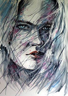 Light Blue Painting - Summer Winds by Kovacs Anna Brigitta