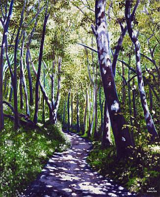 Summer Woods Art Print by Jerry Kirk