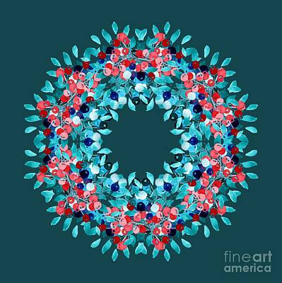 Digital Art - Summer Wreath by Mary Machare