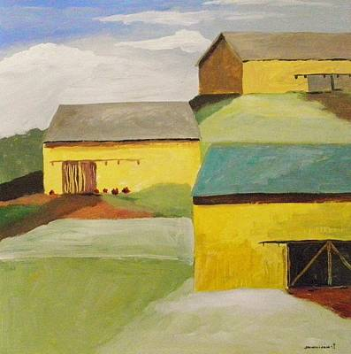 Painting - Summer Yellow Barns by John Williams