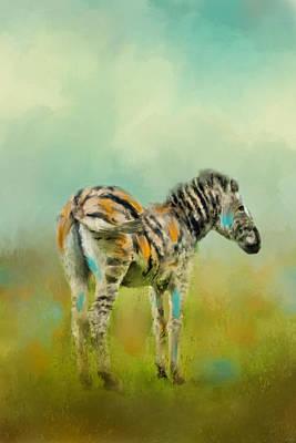 Abstract Wildlife Painting - Summer Zebra 1 by Jai Johnson