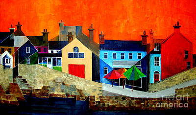 Painting - The Bulman, Summercove, West Cork by Val Byrne