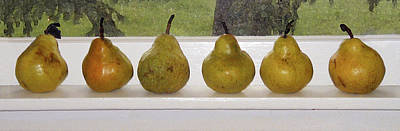 Photograph - Summercrisp Pears On A Sill by Jill Annette Johnson