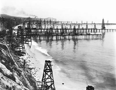 Summerland Photograph - Summerland California Oil Field C. 1902 by Daniel Hagerman