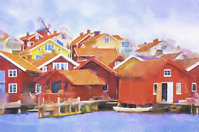 Painting - Summerlife Sweden by Lutz Baar