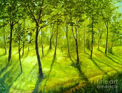 Painting - Summers Approach by Ida Eriksen