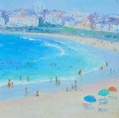 Bondi Beach Painting - Summers At Bondi Beach  by Jan Matson