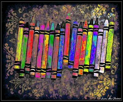 Summer's Crayon Love Art Print
