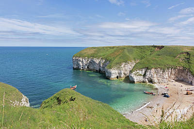 Photograph - Summers Day At  Flamborough North Landing by David  Hollingworth