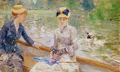 Belles Painting - Summers Day by Berthe Morisot
