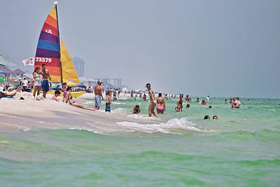 Summers Day On Pensacola Beach Art Print by Ray Devlin