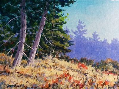 Autumn Painting - Summers End by Richard De Wolfe