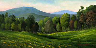 Mountain Landscape - Summers Ending by Frank Wilson