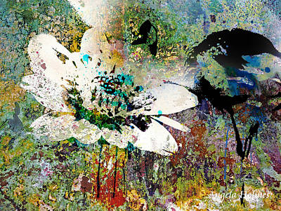 Mixed Media - Summers Garden by Angela Holmes