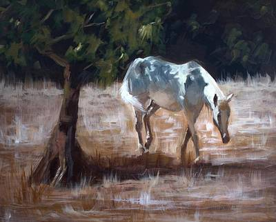 Wild Horse Painting - Summer's Grace by Melissa Herrin