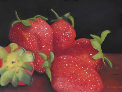 Pastel - Summer's Red Gems by Carol Corliss