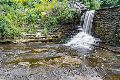 Photograph - Summer's Waterfall by Steven Santamour