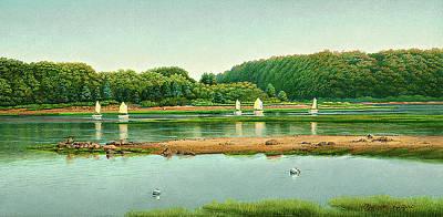 Coastal Landscape Painting - Summerschool by J Morgan Davis