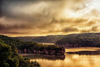 Summersville Lake At Daybreak Art Print