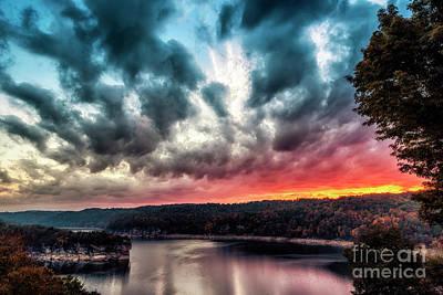 Summersville Lake Autumn Dawn Art Print by Thomas R Fletcher
