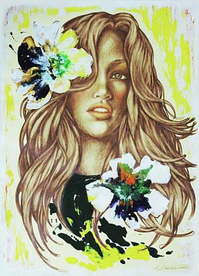 Mixed Media - Boho Girl by Eka Gotsiridze