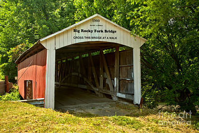 Photograph - Summertime At The Big Rocky Fork Covered Bridge by Adam Jewell