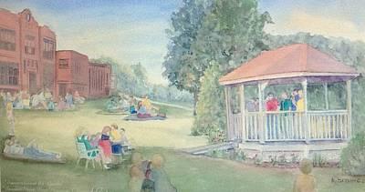 East Hampton Painting - Summertime At The Gazebo 2 by Katherine  Berlin