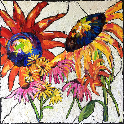 Painting - Summertime Bouquet by Carrie Jacobson