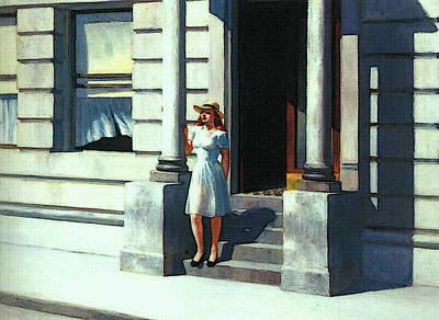 Digital Art - Summertime  by Edward Hopper