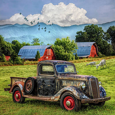Photograph - Summertime Farm In Colorful Hdr Detail by Debra and Dave Vanderlaan