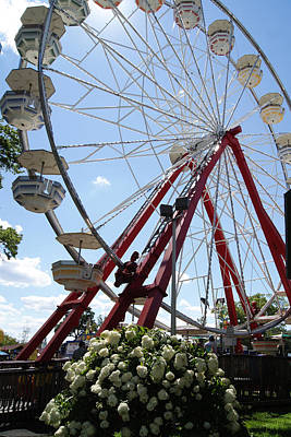 Photograph - Summertime Ferris Wheel by Margie Avellino