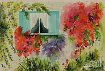 Painting - Summertime Flowers by Pati Pelz