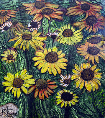 Painting - Summertime Flowers by Ron Richard Baviello
