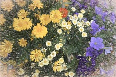 Digital Art - Summertime Garden by Ann Powell