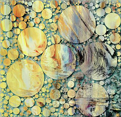 Mixed Media - Summertime Grunge Decorative Abstract Design by Georgiana Romanovna