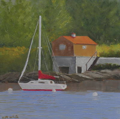 Painting - Summertime Mooring by Scott W White