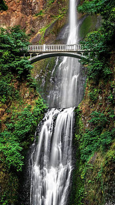 Bath Time Rights Managed Images - Summertime Multnomah Falls Royalty-Free Image by Wes and Dotty Weber