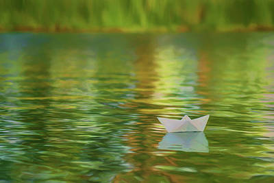 Photograph - Summertime - Paper Boat by Nikolyn McDonald