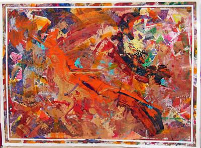Multi-media Painting - Summertime by Robert W Dunlap