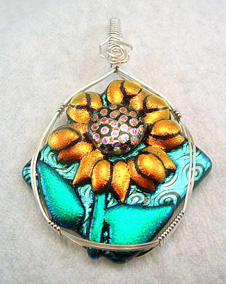 Wire Wrap Jewelry Jewelry - Summertime Sunflower by Linda Ray