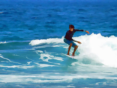 Photograph - Summertime Surfing by Pamela Walton